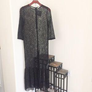 Zara Lace Maxi Dress.